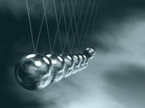 silver balls on swing
