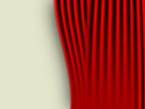 red curtain half open